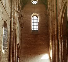 Transept tower of church Abbaye de Cluny 198403070019 by Fred Mitchell