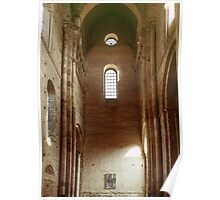 Transept tower of church Abbaye de Cluny 19840307 0019 Poster
