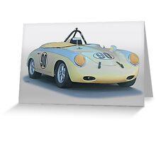 1961 Porsche 356 'Race Prepped' Roadster Greeting Card