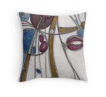 Mackintosh flower Throw Pillow