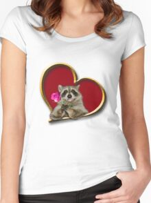 Mother's Day Raccoon Women's Fitted Scoop T-Shirt