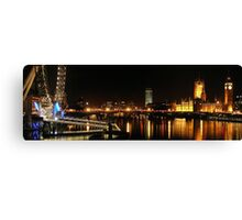 Westminster and the Wheel Canvas Print