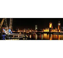 Westminster and the Wheel Photographic Print