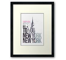 It's Up To You Framed Print