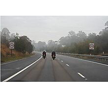 Motorcycle Series #3 - 110 Km Photographic Print