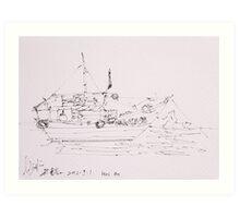 Hoi An IV (Ship) Art Print