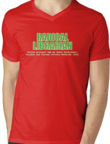 Radical Librarian (Green) - Online privacy Mens V-Neck T-Shirt