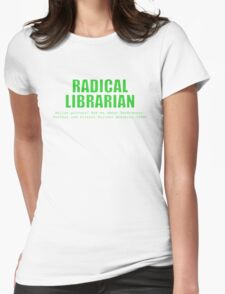 Radical Librarian (Green) - Online privacy Womens Fitted T-Shirt