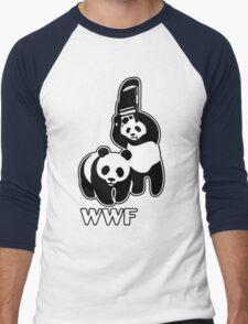WWF (black and white ) Men's Baseball ¾ T-Shirt