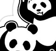 WWF (black and white ) Sticker