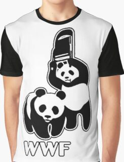 WWF (black and white ) Graphic T-Shirt