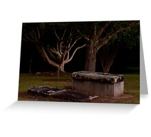 Old Cemetery Greeting Card