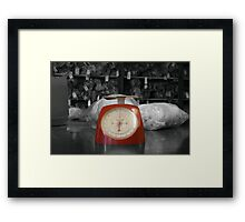 OLD WOOL MILL COLLECTION - SCALES RED Framed Print