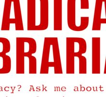 Radical Librarian (Red) - Online privacy Sticker