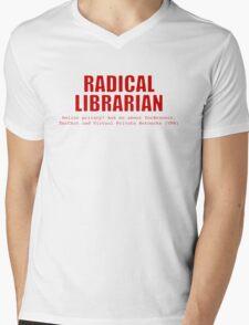 Radical Librarian (Red) - Online privacy Mens V-Neck T-Shirt
