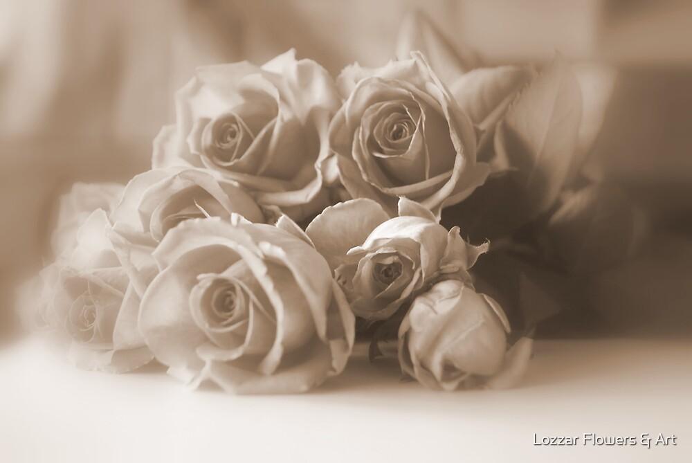 Roses in Sepia by Lozzar Flowers & Art