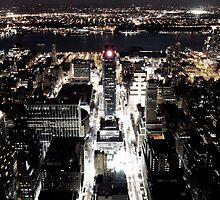 Illuminated Madison Square Garden by Daniel Alcorn