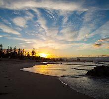 Sun Going Down - Main Beach  by Ann Barnes