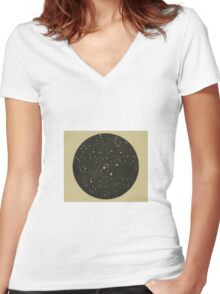 Lucky Stars Vintage Perseus Constellation Women's Fitted V-Neck T-Shirt