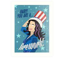 Firework! Art Print