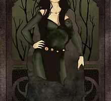 Loki the Trickster art nouveau by koroa