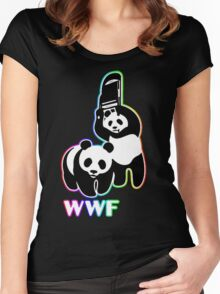 WWF [color ver.] Women's Fitted Scoop T-Shirt