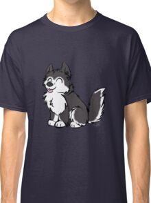 Husky Wuff Black Classic T-Shirt