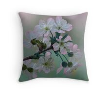 Pretty in Pink and White Throw Pillow