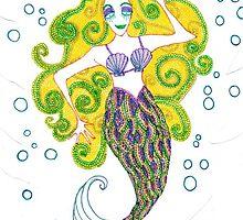 Golden Mermaid by HDEvans