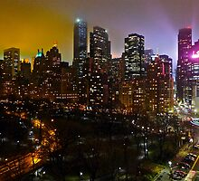 Central Park South Skyline by cammisacam