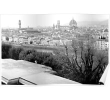 Overlooking Florence, Italy Poster