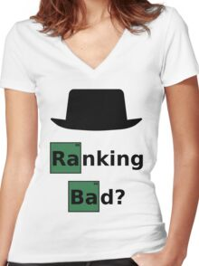 Ranking Bad? Black Hat SEO - Breaking Bad Parody Women's Fitted V-Neck T-Shirt