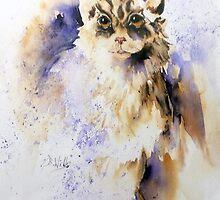 April Cat by Bev  Wells