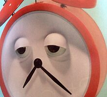 SAD FACED CLOCK GREETING CARD=TICKED OFF by dagokid