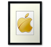 Gold Apple Framed Print