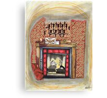 Sherlock's Fire Place Canvas Print