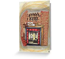 Sherlock's Fire Place Greeting Card