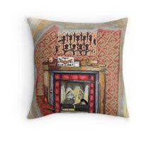 Sherlock's Fire Place Throw Pillow