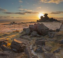 Sunset from Staple Tor by asc-photography