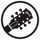gibson  stylized headstock black by raffons