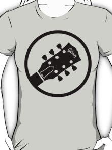 gibson  stylized headstock black T-Shirt