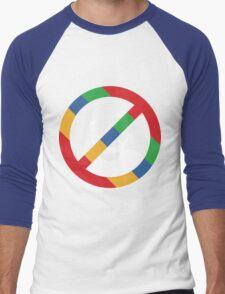 Stop the cyborgs logo (white) Men's Baseball ¾ T-Shirt