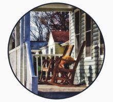Wooden Rocking Chairs on Porch Kids Tee