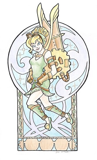 Steampunk Tinkerbell by Karen  Hallion