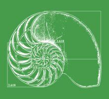 Fibonacci on a nautilus shell One Piece - Short Sleeve