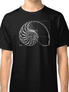 Fibonacci on a nautilus shell Classic T-Shirt