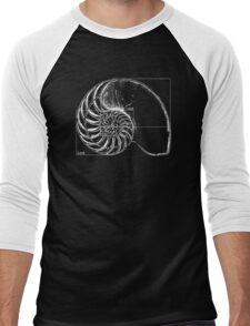 Fibonacci on a nautilus shell Men's Baseball ¾ T-Shirt