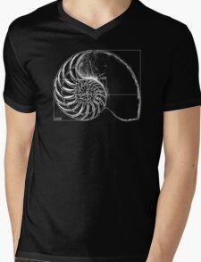 Fibonacci on a nautilus shell Mens V-Neck T-Shirt
