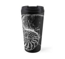 Fibonacci on a nautilus shell Travel Mug