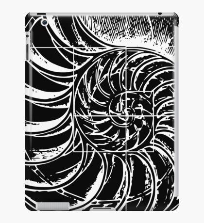 Fibonacci on a nautilus shell iPad Case/Skin